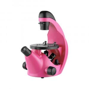 Микроскоп школьный Эврика 40х-320х инвертированный (фуксия)