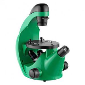 Микроскоп школьный Эврика 40х-320х инвертированный (лайм)
